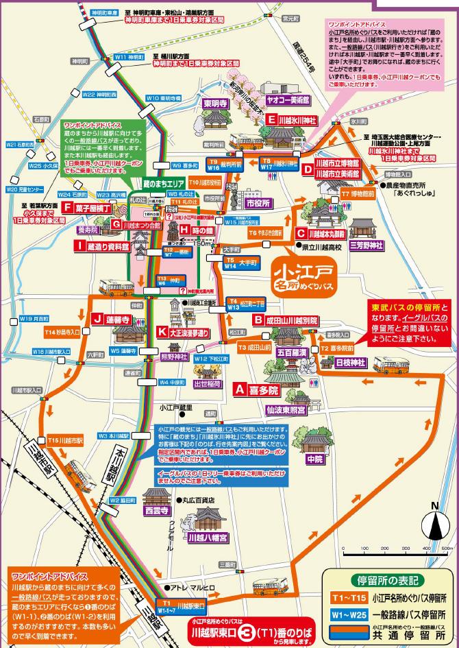 バス 運賃 観光 川越